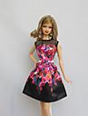 Petrecere/Seară Rochii Pentru Barbie Doll Negru Pentru Fata lui păpușă de jucărie