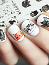1pcs Nail Sticker Nail Stamping Mall Dagligen Djurdesign Mode Hög kvalitet