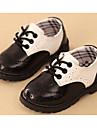 Băieți Pantofi Imitație de Piele Primăvară Confortabili Oxfords Plimbare Dantelă pentru Negru / Negru / Alb