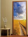 Landskap Romantik Väggklistermärken Väggstickers Flygplan Väggstickers i 3D Dekrativa Väggstickers, Papper Vinyl Hem-dekoration