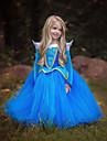 Prinsesse Cinderella Eventyr Kjoler Barne Jente Kjoler Jul Halloween Maskerade Festival / hoeytid Polyester Blaa / Rosa Karneval Kostumer Fargeblokk Bedaarende