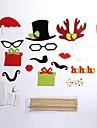 Vacanță Costume Moș Decorațiuni de Halloween  Negru Hârtie Accesorii Cosplay Crăciun