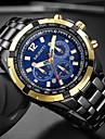 Bărbați Ceas de Mână Ceas Elegant  Ceas La Modă Chineză Quartz Mare Dial Oțel inoxidabil Bandă Lux Cool Negru Argint