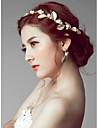 Pentru femei Stil Floral Simplu Imitație de Perle Bandană