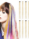 20 pouces Cheveux Synthetiques Extension des cheveux Classique A Clipser Quotidien Haute qualite Femme