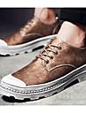 Bărbați Pantofi Microfibră PU sintetică Primăvară / Toamnă Confortabili Oxfords Negru / Gri / Maro