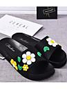 女性用 靴 PVCレザー 春 / 夏 コンフォートシューズ スリッパ&フリップ・フロップ フラットヒール オープントゥ アップリケ イエロー / レッド / ブルー