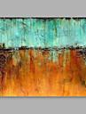 HANDMÅLAD Abstrakt Horisontell, Moderna Duk Hang målad oljemålning Hem-dekoration En panel