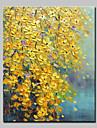 HANDMÅLAD Blommig/Botanisk Vertikal, Moderna Duk Hang målad oljemålning Hem-dekoration En panel