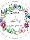 Florale/Botanice Temă Grădină Temă Florală Autocolante, etichete Tag-uri - 10 Rotund Pătrat Circular Decor Nuntă Unic Plic autocolant