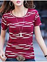 Pentru femei Mărime Plus Size Tricou Bumbac De Bază - Bloc Culoare Imprimeu