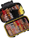 Vissen toebehoren 100 pcs Vissen Licht en comfortabel Makkelijk Te Gebruiken Veren Koolstofstaal Zeevissen Vliegvissen Aas Uitzoeken / IJsvissen / Draaiend / Schuddend Vissen / Zoetwater Vissen
