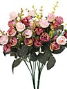 Flori artificiale 2 ramură Pastoral Stil Trandafiri Față de masă flori