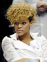 Syntetiskt hår peruker Lockigt Celebrity Wig Naturlig peruk Svart och guld