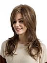 Парики из искусственных волос Естественные волны Стиль С чёлкой Без шапочки-основы Парик Коричневый Средний Коричневый / Клубника Blonde Искусственные волосы Жен.