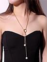 女性用 ラリアット ペンダントネックレス ロングネックレス 人造真珠 ハート レディース ゴールド シルバー ネックレス ジュエリー 用途 パーティー バー