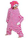 Pijama Kigurumi Anime Desene Animate Pijama Întreagă Costume Flanel Lână Trandafiriu Cosplay Pentru Pentru copii Adulți Sleepwear Pentru