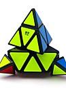 Rubiks kub QIYI A Pyraminx Alien 3*3*3 Mjuk hastighetskub Magiska kuber Pusselkub Genomskinligt klistermärke Office Desk Leksaker Stress