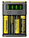 Nitecore NEW-I4 Akkumulátor töltő mert Li-on Ni-Cd Ni-MH Hordozható Professzionális Rövidzárlat-védelem Túltöltésvédelem Műanyag