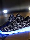 Dam Skor Tyll Vinter Höst Komfort Lysande skor Sneakers Låg klack Snörning LED för Sport Casual Utomhus Svart Grå Röd