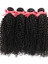 Brasilianskt hår Obehandlat Kinky Curly Hårförlängning av äkta hår Heta Försäljning Human Hår vävar