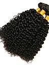 3 Bundler Brasiliansk hår Kinky Curly 8A Menneskehår Menneskehår, Bølget 8-28 inch Menneskehår Vævninger Menneskehår Extensions Dame / Kinky Krøller