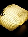 1 buc Carte LED-uri de lumină de noapte Alb Cald Built-in baterie Li-Powered Pliabil Reîncărcabil Lumina decorativă Cu port USB Ușor de