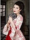 Vintage / Rococo / Βικτωριανής Εποχής Costume Pentru femei Rochii / Costume petrecere / Mascaradă Rosu Vintage Cosplay Dantelă / Satin / Bumbac Manșon Lung Poet Lung / Floral