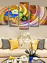 Imprimeuri pânză întinse Modern, Cinci Panouri pânză Vertical Imprimeu Decor de perete Pagina de decorare