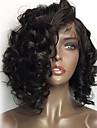 Äkta hår Peruk Brasilianskt hår Löst vågigt 360 Frontal 180% Densitet 100 % handbundet Afro-amerikansk peruk Naturlig hårlinje Korta
