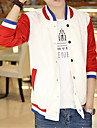Bărbați Stand Regular Jachetă Zilnice De Atletism Sfârșit de săptămână Școală 16 Ani Activ Clasic & Fără Vârstă Modern, Dungi Primăvară