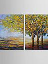 Hang-pictate pictură în ulei Pictat manual - Peisaj Modern pânză