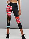 Pentru femei - Bloc Culoare, Imprimeu Talie Înaltă Sport Legging