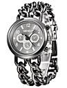 Γυναικεία Καθημερινό Ρολόι Ρολόι Φορέματος Ιαπωνικά Χαλαζίας Ασημί 30 m Καθημερινό Ρολόι Αναλογικό κυρίες Φυλαχτό - Λευκό Μαύρο Δύο χρόνια Διάρκεια Ζωής Μπαταρίας