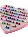 Pentru femei 36 Perechi Cercei Stud Modă Plastic Geometric Shape Bijuterii Curcubeu Zilnic Costum de bijuterii