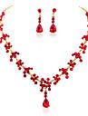 Mujer Conjunto de joyas Gota Dulce, Moda Incluir Los sistemas nupciales de la joyeria Blanco / Rojo / Azul Para Boda Fiesta