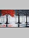 Hang-pictate pictură în ulei Pictat manual - Peisaj Artă Pop Modern pânză