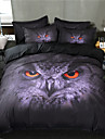 Duvet Cover Sets 3D Polyster Reactive Print 3 Piece Bedding Sets / 300 / 3pcs (1 Duvet Cover, 2 Shams) king