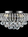 3-Light Montaj Flush Lumină Spot Crom Metal Cristal 110-120V / 220-240V Alb Cald Becul nu este inclus / E12 / E14