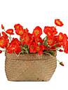Kunstbloemen 1 Tak Vintage Europees Papaver Bloemen voor op tafel