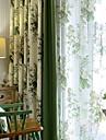 Skira Gardiner Shades Vardagsrum Blommig Modernt Bomull / Polyester Tryckt