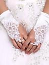 Elastický satén K zápěstí Rukavice Luxus / Pro nevěstu / Party rukavičky S Výšivka