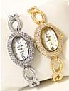 Жен. Часы-браслет Diamond Watch золотые часы Японский Кварцевый Серебристый металл / Золотистый 30 m Секундомер Имитация Алмазный Аналоговый Дамы Блестящие Кольцеобразный - Золотой Серебряный