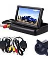 ziqiao 3 σε 1 ασύρματο σύστημα παρακολούθησης κάμερας βίντεο σύστημα αναδίπλωσης αναδιπλούμενο αυτοκίνητο οθόνη με ασύρματο κιτ πίσω κάμερας