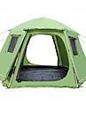 Shamocamel® 8 أشخاص أوتوماتيكي الخيمة في الهواء الطلق قابل للسحب طبقات مزدوجة أوتوماتيكي القبة خيمة التخييم 1500-2000 mm إلى تنزه تيريليني, شبكة, بوليستر 368*368*190 cm