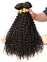 3 Bundler Brasiliansk hår Kinky Curly 8A Menneskehår Hårforlængelse af menneskehår 8-28 inch Naturlig Farve Menneskehår Vævninger Ekstention Hot Salg Menneskehår Extensions Alle