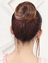 Flores Bolo de cabelo Lady sexy Com Cordao Cabelo Sintetico Pedaco de cabelo Alongamento Flores medio Auburn / Ruivo Escuro / Loiro