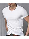 男性用 プラスサイズ Tシャツ 活発的 ラウンドネック ソリッド コットン / 半袖