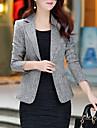 Pentru femei Mărime Plus Size Blazer Zilnic / Muncă De Bază / Șic Stradă - Mată / Primăvară / Toamnă