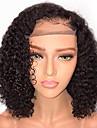 Remy-hår Peruk Brasilianskt hår Vågigt Bob-frisyr 130% Densitet Med Babyhår Med blekta knutar obearbetade Afro-amerikansk peruk Naturlig